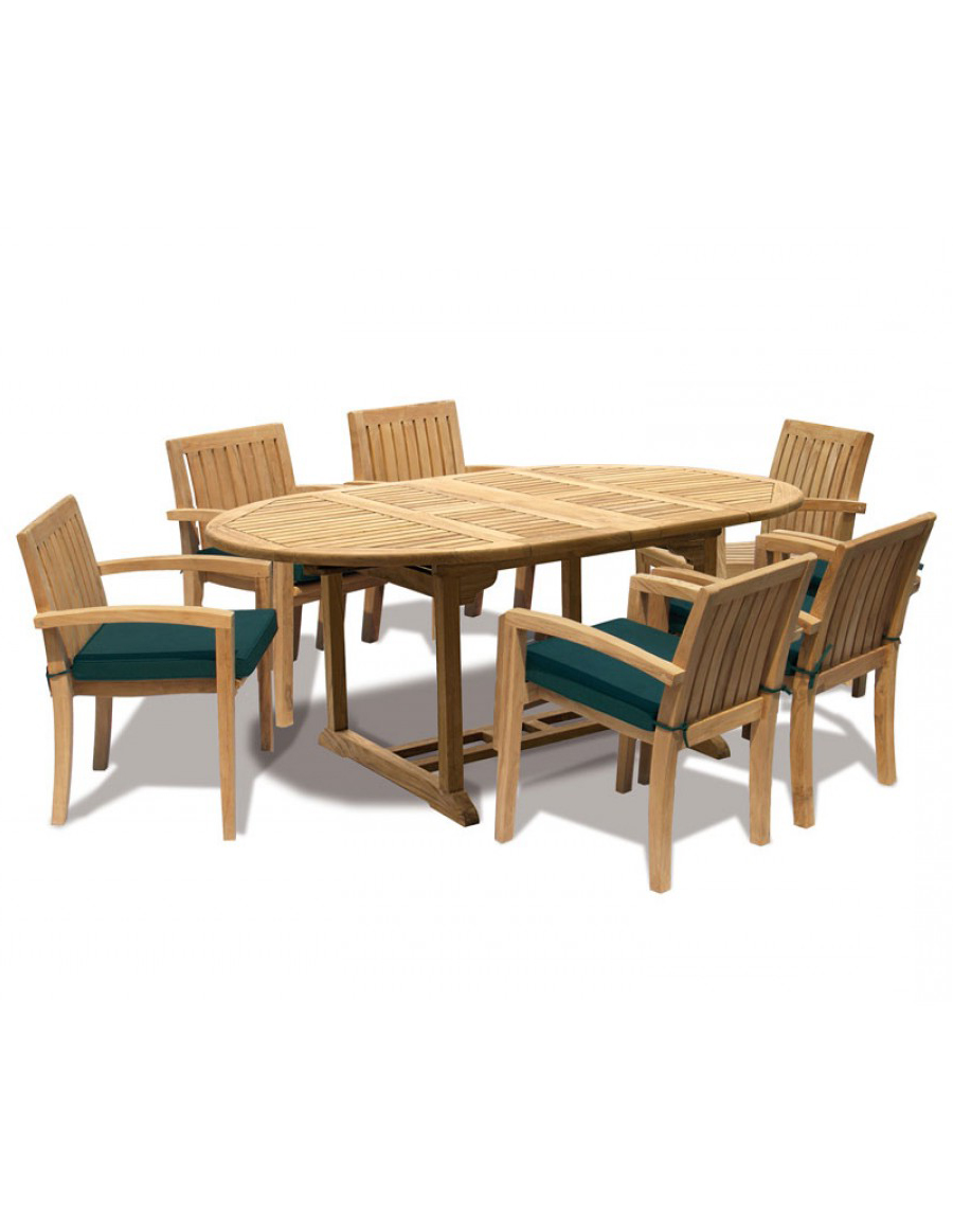 Ascot Dining Set, 6 Seat Extendable